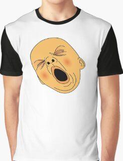 Yawning Baby Bald Man Bored at Work Graphic T-Shirt