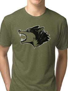 Angry Wolf Tee (Transparent) Tri-blend T-Shirt