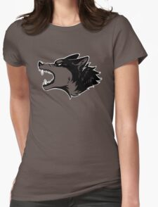 Angry Wolf Tee (Transparent) Womens Fitted T-Shirt