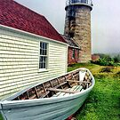 Lighthouse, Monhegan Island, Maine by fauselr