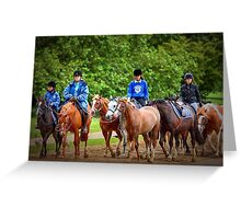 Riding School Greeting Card