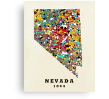 Nevada state map Canvas Print