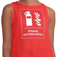 Funny Hot Spicy Curry Phaal Fire Extinguisher Joke Contrast Tank