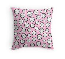 Chocolate Sugar Cookie Pattern On Pink Throw Pillow