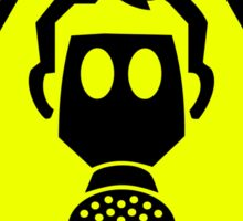 Vindaloo Curry Gas Mask Yellow Warning Sign Sticker