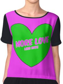 More love, Less hate pink Chiffon Top