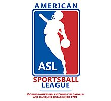 American Sportsball League Photographic Print