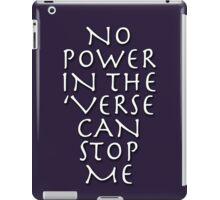 No Power in the 'Verse iPad Case/Skin