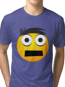 Emoji Tape Face Tri-blend T-Shirt
