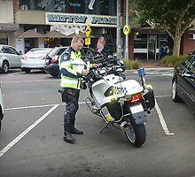 Motor Cycle Policeman in Werribee Vic- Australia by EdsMum