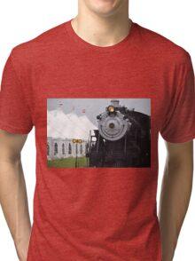 Beautiful Steam Engine Train  Tri-blend T-Shirt