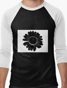Black flower Men's Baseball ¾ T-Shirt