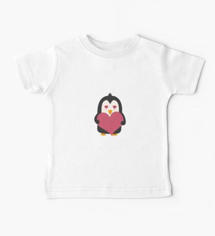 Penguin with a heart   Baby Tee