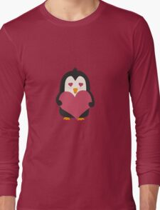 Penguin with a heart   Long Sleeve T-Shirt