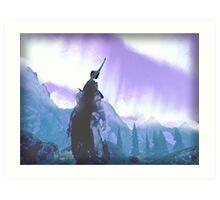 Skyrim Northern Lights Poster (The Elder scrolls)  Art Print