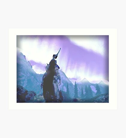 Skyrim Northern Lights Poster (The Elder scrolls)  Art Print