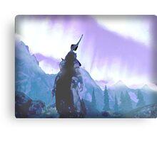 Skyrim Northern Lights Poster (The Elder scrolls)  Metal Print