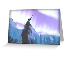 Skyrim Northern Lights Poster (The Elder scrolls)  Greeting Card