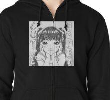 Shoujo Manga Zipped Hoodie