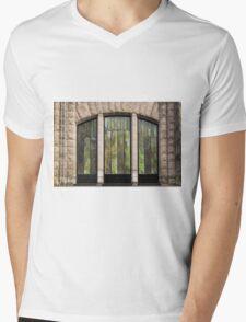 Glass Panels And Stone Work ©  Mens V-Neck T-Shirt