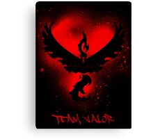 Team Valor Spray Canvas Print
