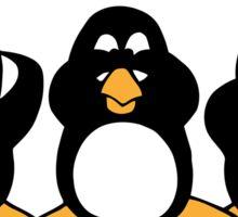 Three Wise Penguins Design Graphic Sticker