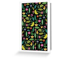 Flower Patch Dark Greeting Card