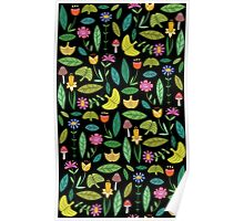 Flower Patch Dark Poster