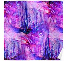 Purple Mountains Abstract Poster