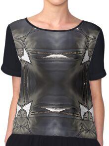 leather, subversive patterns II Chiffon Top