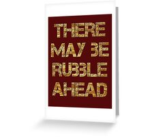 Builders, D.I.Y, DIY, Extension, Extend, Rubble, House builders, Handyman, Demolition, on BROWN Greeting Card