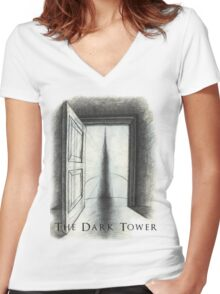 Dark Tower Women's Fitted V-Neck T-Shirt