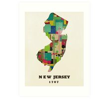 new jersey state map Art Print