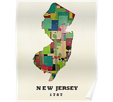 new jersey state map Poster