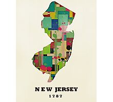 new jersey state map Photographic Print