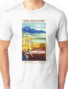 Vintage New Zealand Travel Poster Unisex T-Shirt