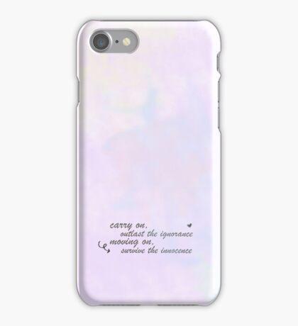 5 seconds of summer 'carry on' lyrics iPhone Case/Skin