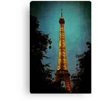 Tour Eiffel at Night Canvas Print