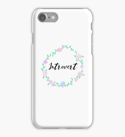 Introvert Flower Border iPhone Case/Skin