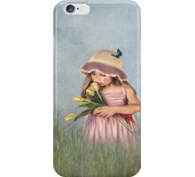 Carrying Tulips for You iPhone Case/Skin
