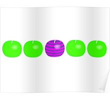 Different Apple Poster