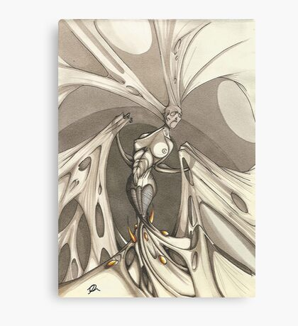 Gothic Demon Asphyxiation Canvas Print