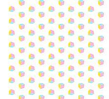 pastel cubes Photographic Print