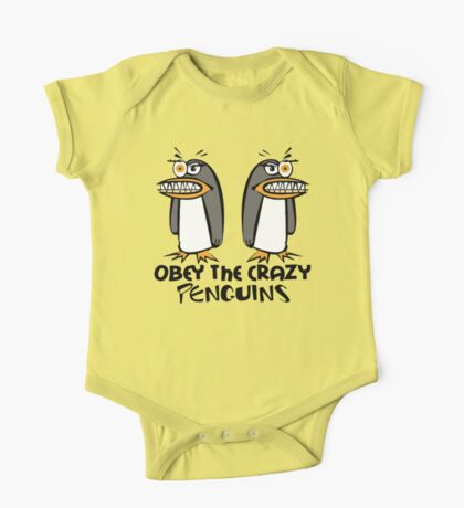 Obey The Crazy Penguins  One Piece - Short Sleeve