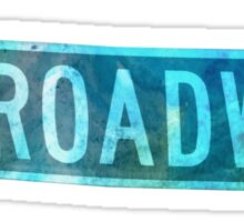 Watercolour Broadway Sign  Sticker