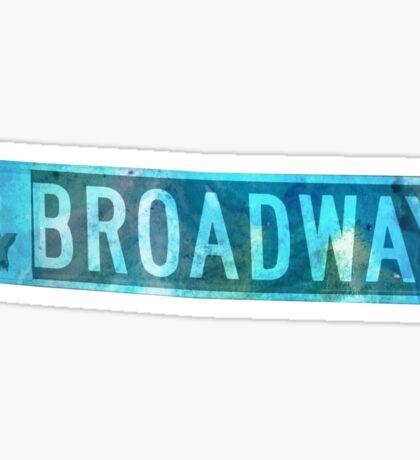 Watercolour Broadway Sign  Sticker