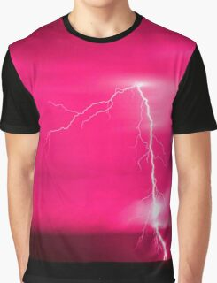 Pink Lightning  Graphic T-Shirt