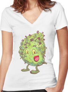 Buddy the Bud Women's Fitted V-Neck T-Shirt