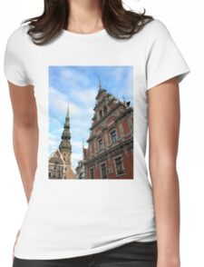 House of the Blackheads, Riga, Latvia Womens Fitted T-Shirt
