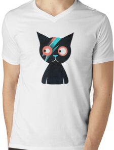 Flash Cat Mens V-Neck T-Shirt